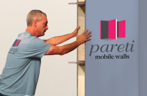 Moveable, mobile walls – portable walls