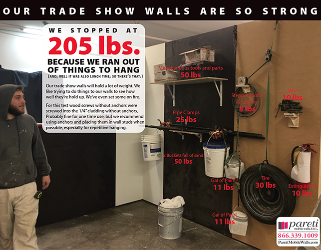 how much weight can your trade show display hold